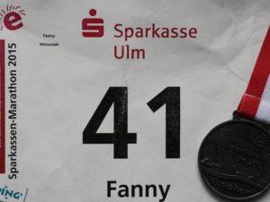 Ulm Marathon Startnummer und Medaille